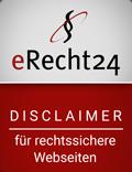 eRecht24 Siegel Disclaimer